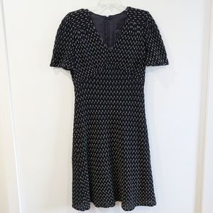 ANNA SUI Black & Tan Anthropologie A-Line Dress 6